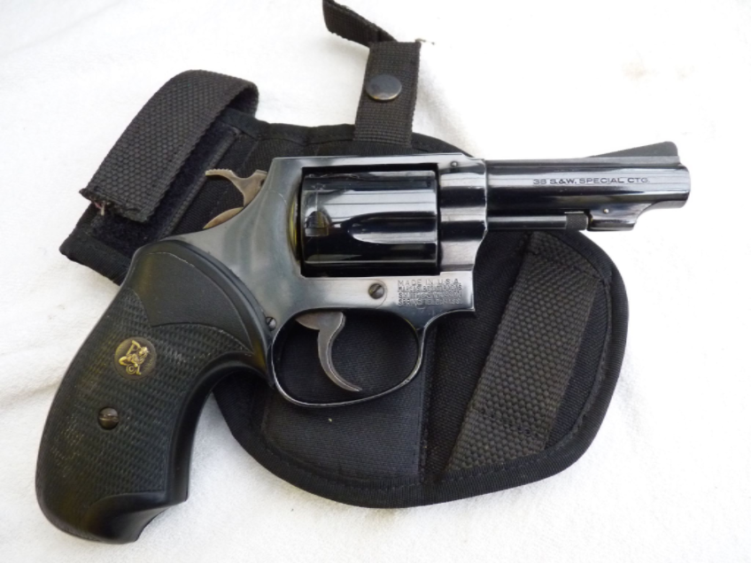 Deactivated Smith & Wesson Model 36  38 Special revolver with holster  **SOLD**